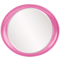 Howard Elliott Collection 2070HP Ellipse 39 X 35 inch Hot Pink Wall Mirror, Round photo thumbnail