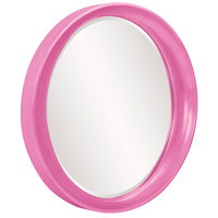 Howard Elliott Collection 2070HP Ellipse 39 X 35 inch Hot Pink Wall Mirror, Round alternative photo thumbnail