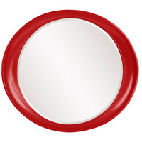 Howard Elliott Collection 2070R Ellipse 39 X 35 inch Red Wall Mirror, Round photo thumbnail