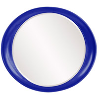 Howard Elliott Collection 2070RB Ellipse 39 X 35 inch Royal Blue Wall Mirror, Round photo thumbnail