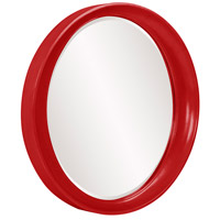 Howard Elliott Collection 2070R Ellipse 39 X 35 inch Red Wall Mirror, Round alternative photo thumbnail
