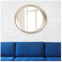 Howard Elliott Collection 2070 Ellipse 39 X 35 inch Burnished Silver Leaf Wall Mirror, Round alternative photo thumbnail