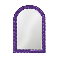 Howard Elliott Collection 2107RP Montreal 40 X 26 inch Royal Purple Wall Mirror, Rectangle photo thumbnail