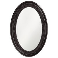 Ethan 31 X 21 inch Glossy Black Wall Mirror, Oval