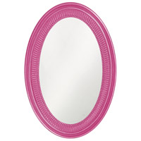 Howard Elliott Collection 2110HP Ethan 31 X 21 inch Glossy Hot Pink Wall Mirror photo thumbnail