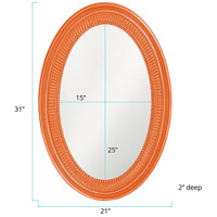 Howard Elliott Collection 2110O Ethan 31 X 21 inch Glossy Orange Wall Mirror alternative photo thumbnail