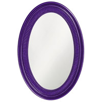 Ethan 31 X 21 inch Royal Purple Wall Mirror, Oval