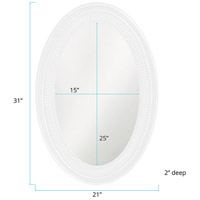 Howard Elliott Collection 2110W Ethan 31 X 21 inch White Wall Mirror, Oval alternative photo thumbnail