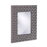 Howard Elliott Collection 21114CH Justin 26 X 22 inch Charcoal Gray Wall Mirror, Rectangle photo thumbnail