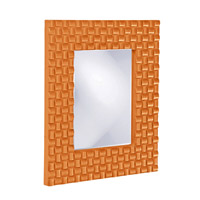 Howard Elliott Collection 21114O Justin 26 X 22 inch Orange Wall Mirror, Rectangle photo thumbnail