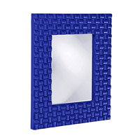 Howard Elliott Collection 21114RB Justin 26 X 22 inch Royal Blue Wall Mirror, Rectangle photo thumbnail