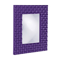 Howard Elliott Collection 21114RP Justin 26 X 22 inch Royal Purple Wall Mirror, Rectangle photo thumbnail