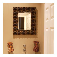 Howard Elliott Collection 21114 Justin 26 X 22 inch Copper Wall Mirror, Rectangle, Looped Basket Weave alternative photo thumbnail