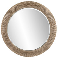 Bergman 54 X 54 inch Brushed Silver Leaf Wall Mirror, Round