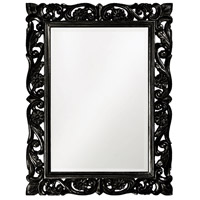 Howard Elliott Collection 2113BL Chateau 42 X 31 inch Glossy Black Wall Mirror, Rectangle photo thumbnail