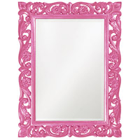 Howard Elliott Collection 2113HP Chateau 42 X 31 inch Glossy Hot Pink Wall Mirror photo thumbnail