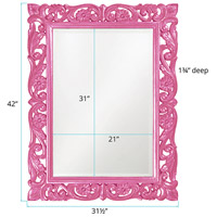 Howard Elliott Collection 2113HP Chateau 42 X 31 inch Glossy Hot Pink Wall Mirror alternative photo thumbnail