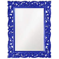 Howard Elliott Collection 2113RB Chateau 42 X 31 inch Royal Blue Wall Mirror, Rectangle photo thumbnail