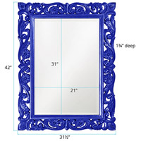 Howard Elliott Collection 2113RB Chateau 42 X 31 inch Royal Blue Wall Mirror, Rectangle alternative photo thumbnail