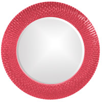 Howard Elliott Collection 21143HP Bergman 32 X 32 inch Hot Pink Wall Mirror, Round, Small photo thumbnail