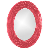 Howard Elliott Collection 21143HP Bergman 32 X 32 inch Hot Pink Wall Mirror, Round, Small alternative photo thumbnail