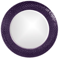 Howard Elliott Collection 21143RP Bergman 32 X 32 inch Royal Purple Wall Mirror, Round, Small photo thumbnail