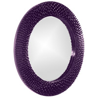 Howard Elliott Collection 21143RP Bergman 32 X 32 inch Royal Purple Wall Mirror, Round, Small alternative photo thumbnail