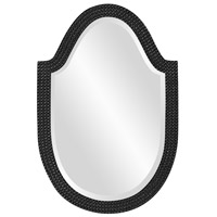 Howard Elliott Collection 2125BL Lancelot 32 X 21 inch Glossy Black Wall Mirror, Oval photo thumbnail