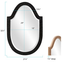 Howard Elliott Collection 2125BL Lancelot 32 X 21 inch Glossy Black Wall Mirror, Oval alternative photo thumbnail