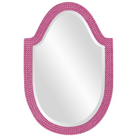 Howard Elliott Collection 2125HP Lancelot 32 X 21 inch Hot Pink Wall Mirror, Oval photo thumbnail