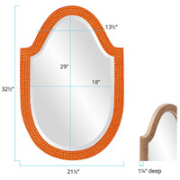 Howard Elliott Collection 2125O Lancelot 32 X 21 inch Orange Wall Mirror, Oval alternative photo thumbnail