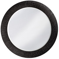 Howard Elliott Collection 2128BL Bergman 32 X 32 inch Glossy Black Wall Mirror, Round, Large photo thumbnail