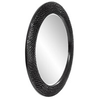 Howard Elliott Collection 2128BL Bergman 32 X 32 inch Glossy Black Wall Mirror, Round, Large alternative photo thumbnail