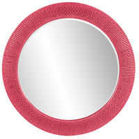Howard Elliott Collection 2128HP Bergman 32 X 32 inch Hot Pink Wall Mirror, Round, Large photo thumbnail