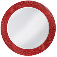 Howard Elliott Collection 2128R Bergman 32 X 32 inch Red Wall Mirror, Round, Large photo thumbnail