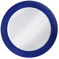 Howard Elliott Collection 2128RB Bergman 32 X 32 inch Royal Blue Wall Mirror, Round, Large photo thumbnail
