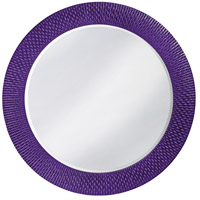 Howard Elliott Collection 2128RP Bergman 32 X 32 inch Royal Purple Wall Mirror, Round, Large photo thumbnail