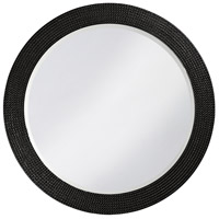 Howard Elliott Collection 2133BL Lancelot 32 X 21 inch Glossy Black Wall Mirror, Round photo thumbnail