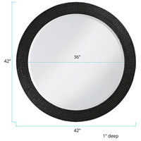 Howard Elliott Collection 2133BL Lancelot 32 X 21 inch Glossy Black Wall Mirror, Round alternative photo thumbnail