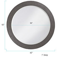 Howard Elliott Collection 2133CH Lancelot 32 X 21 inch Charcoal Gray Wall Mirror, Round alternative photo thumbnail