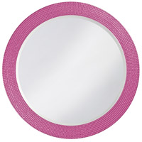 Howard Elliott Collection 2133HP Lancelot 32 X 21 inch Hot Pink Wall Mirror, Round photo thumbnail