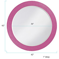 Howard Elliott Collection 2133HP Lancelot 32 X 21 inch Hot Pink Wall Mirror, Round alternative photo thumbnail