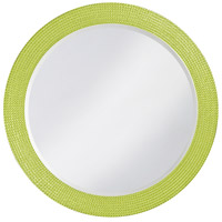Howard Elliott Collection 2133MG Lancelot 32 X 21 inch Green Wall Mirror, Round photo thumbnail