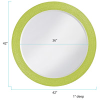 Howard Elliott Collection 2133MG Lancelot 32 X 21 inch Green Wall Mirror, Round alternative photo thumbnail