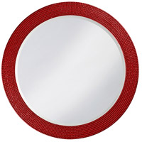 Howard Elliott Collection 2133R Lancelot 32 X 21 inch Red Wall Mirror, Round photo thumbnail