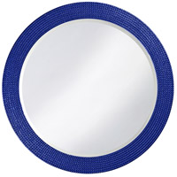 Howard Elliott Collection 2133RB Lancelot 32 X 21 inch Royal Blue Wall Mirror, Round photo thumbnail