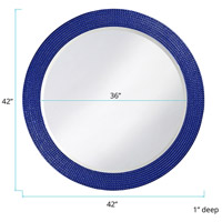 Howard Elliott Collection 2133RB Lancelot 32 X 21 inch Royal Blue Wall Mirror, Round alternative photo thumbnail
