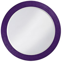 Howard Elliott Collection 2133RP Lancelot 32 X 21 inch Royal Purple Wall Mirror, Round photo thumbnail