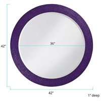 Howard Elliott Collection 2133RP Lancelot 32 X 21 inch Royal Purple Wall Mirror, Round alternative photo thumbnail
