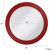Howard Elliott Collection 2133R Lancelot 32 X 21 inch Red Wall Mirror, Round alternative photo thumbnail